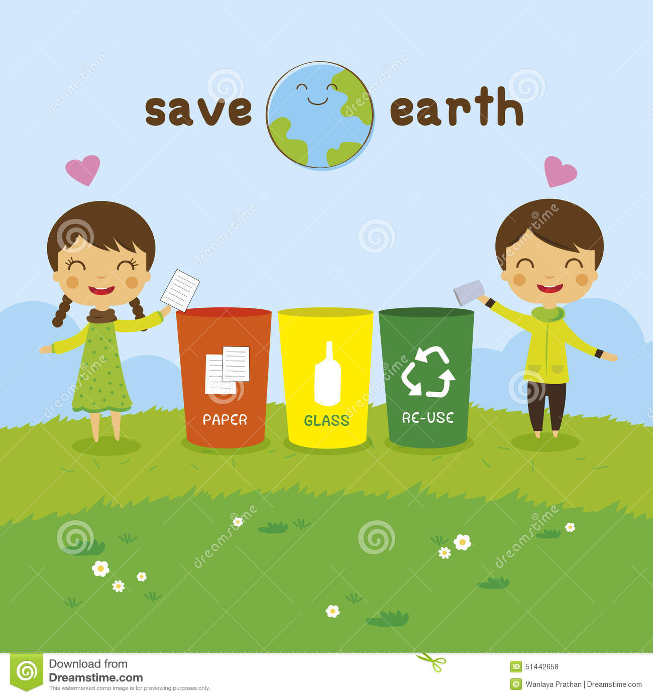 Save The Earth Ecology Concept Stock Vector