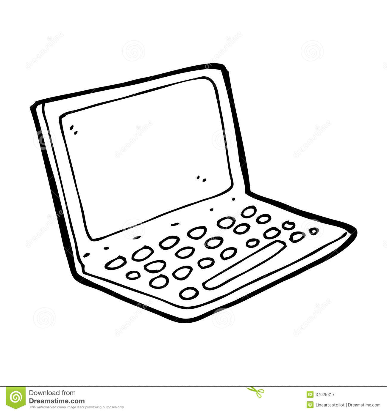 Cartoon Laptop Computer Royalty Free Stock Photography