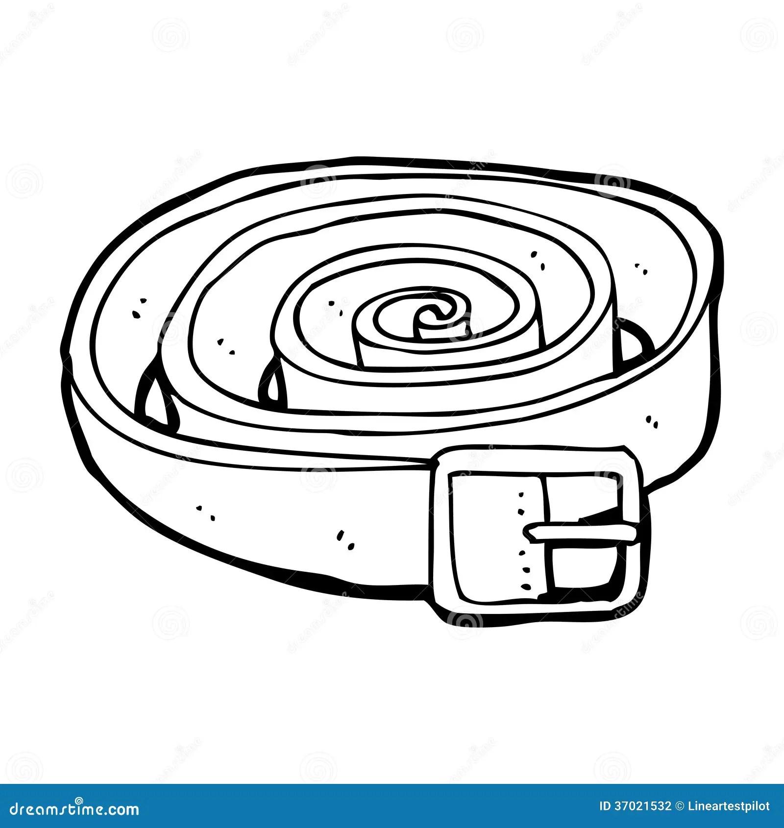 Cartoon Leather Belt Stock Illustration Illustration Of