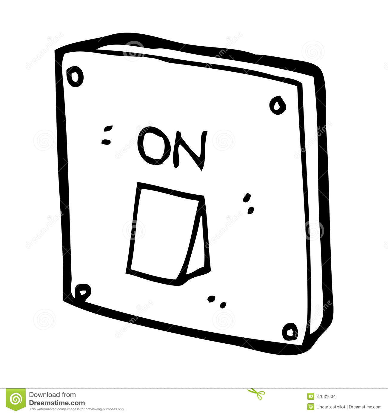 Cartoon Light Switch Stock Images