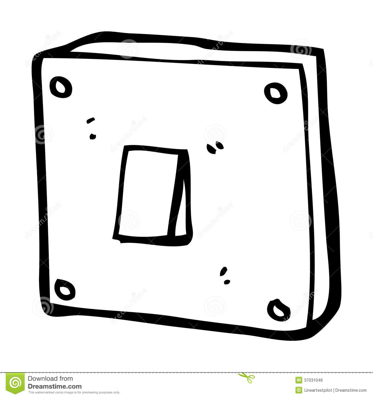 Cartoon Light Switch Stock Illustration Image Of Switch