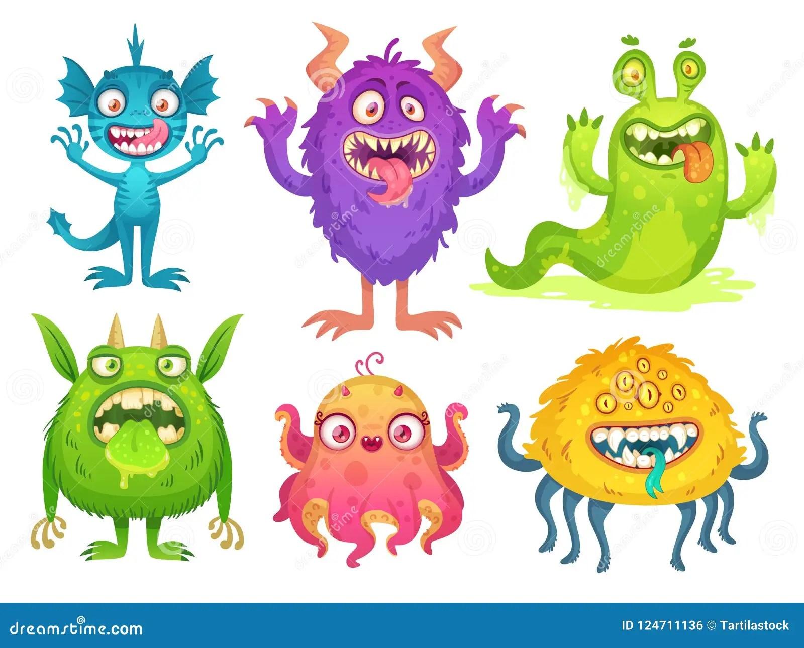 Cartoon Monster Mascot Halloween Funny Monsters Bizarre