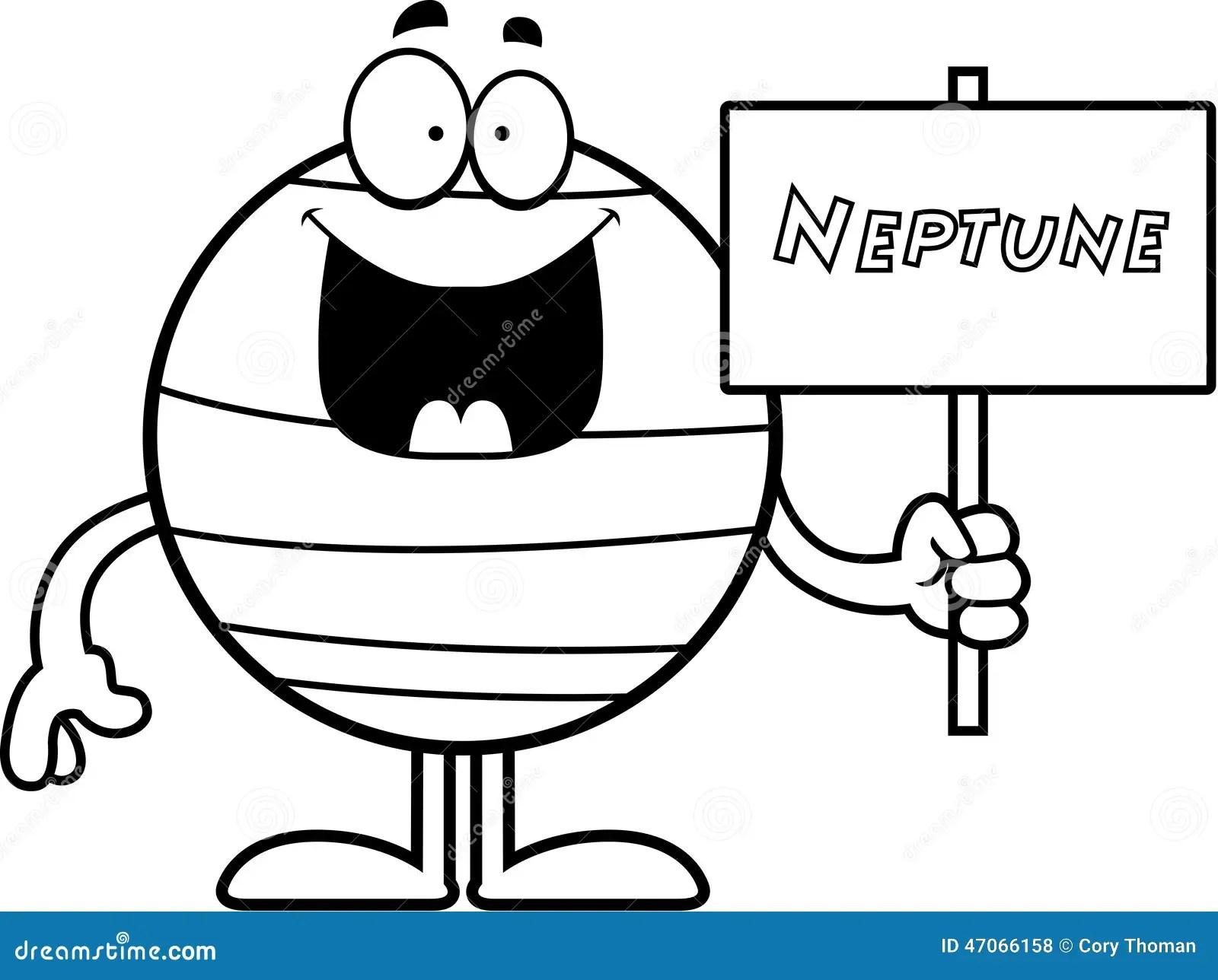 Cartoon Neptune Sign Stock Vector