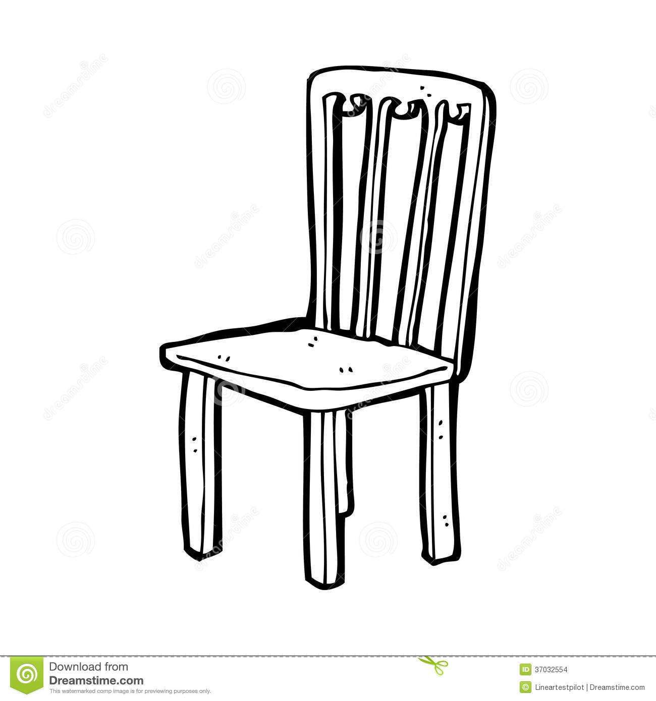 Cartoon Old Chair Stock Illustration Illustration Of