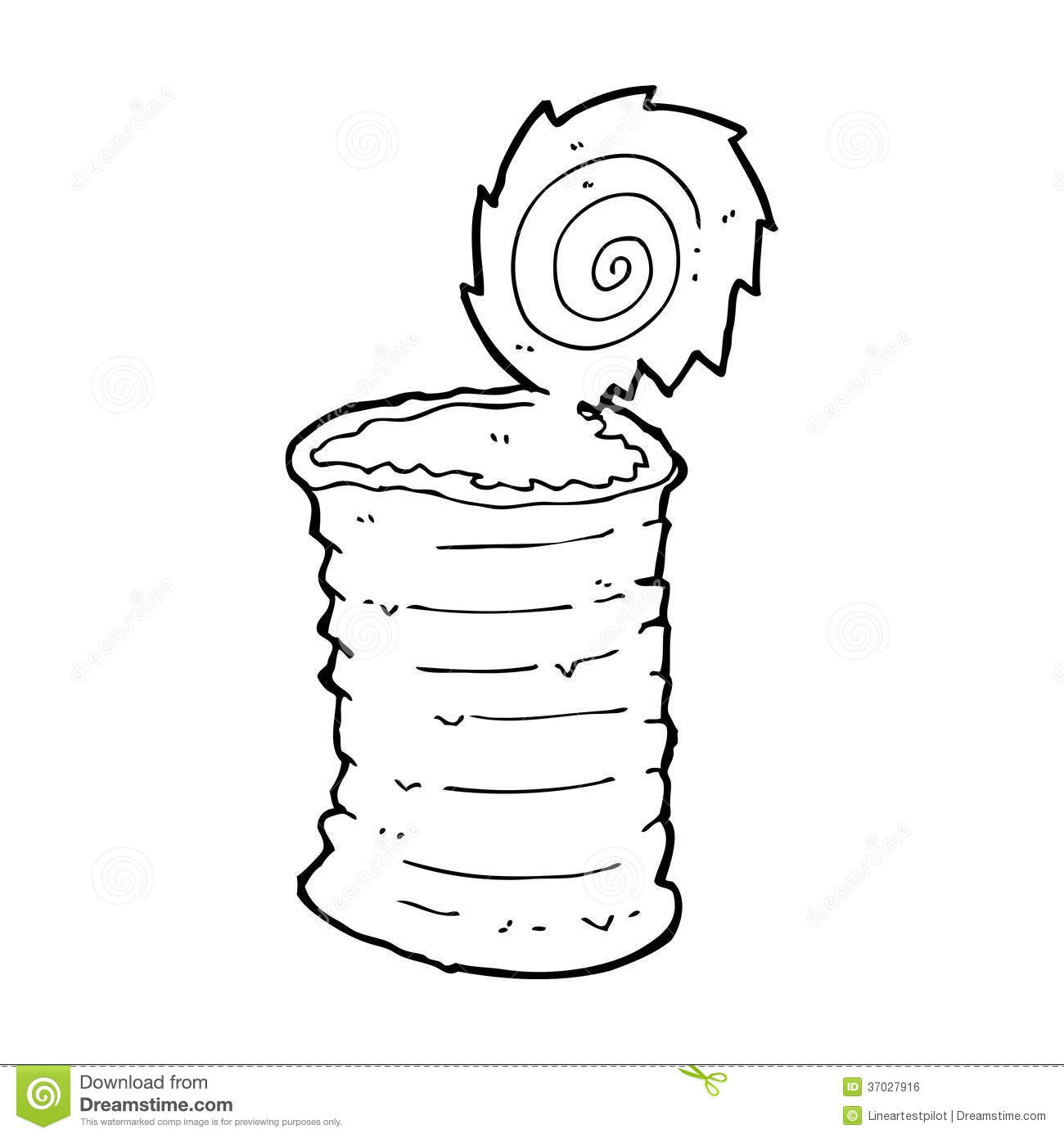 Cartoon Old Tin Can Stock Illustration Image Of Clip