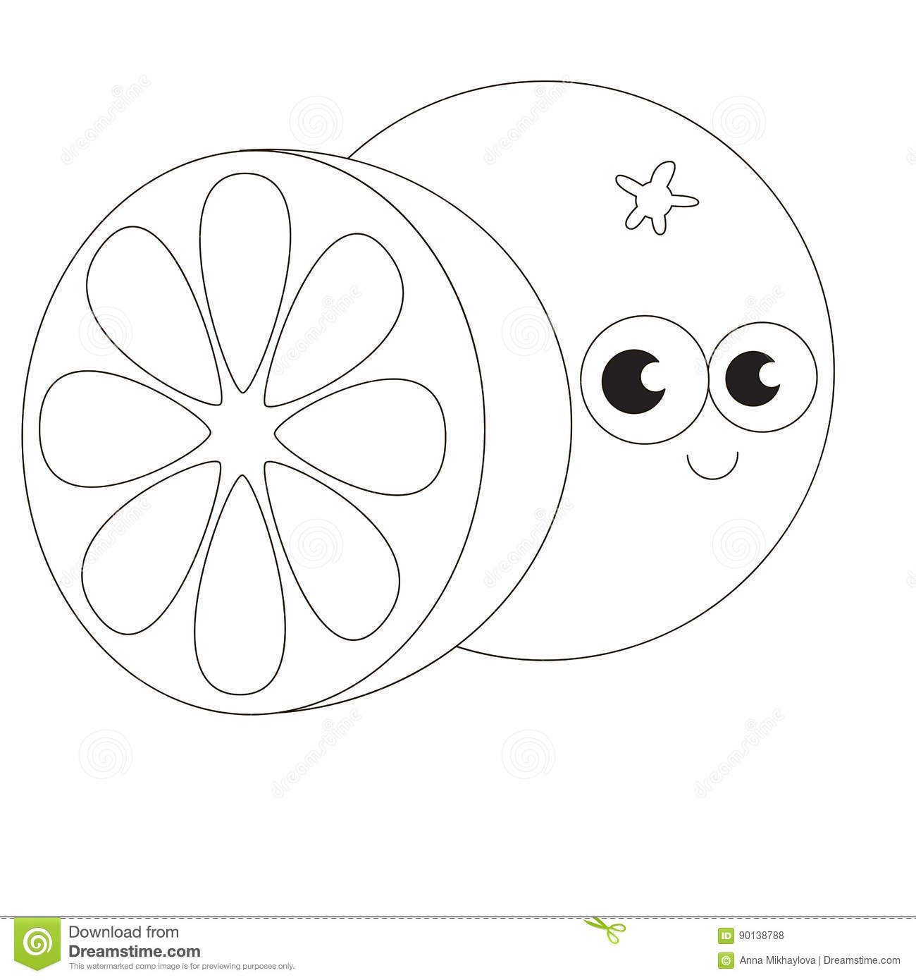 Cartoon Outlined Object Stock Vector Illustration Of