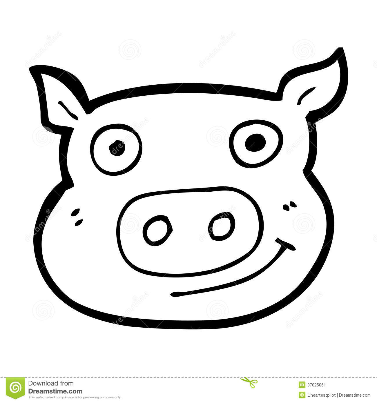 Animated Pig Face