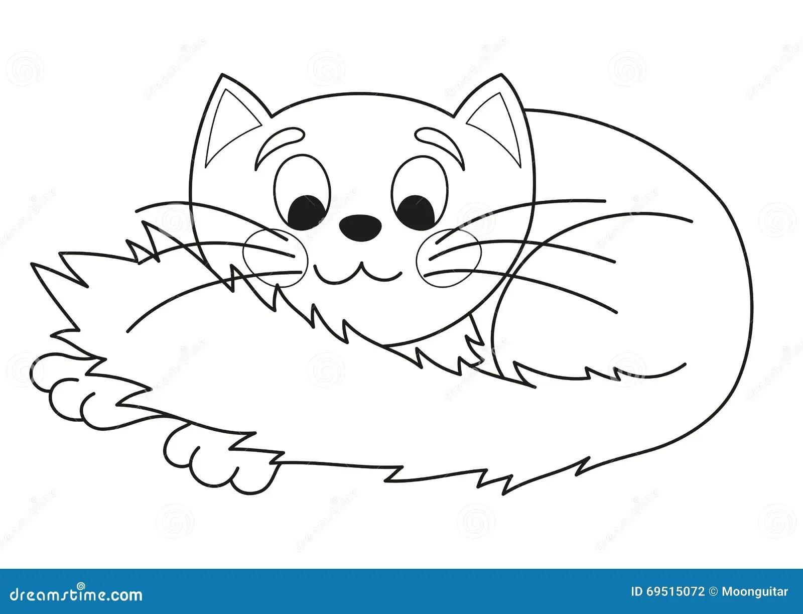 Cartoon Plump Kitty Vector Illustration Of Funny Cute Cat