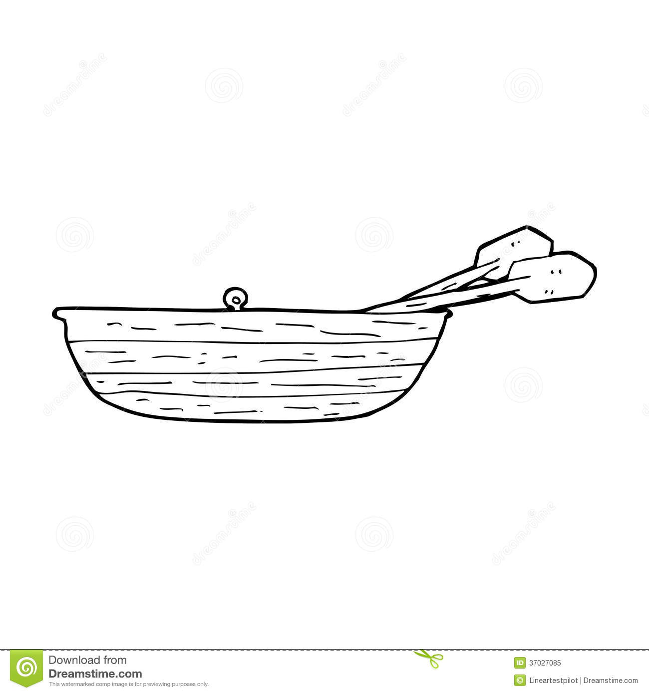 Row Boat Clipart Black And White