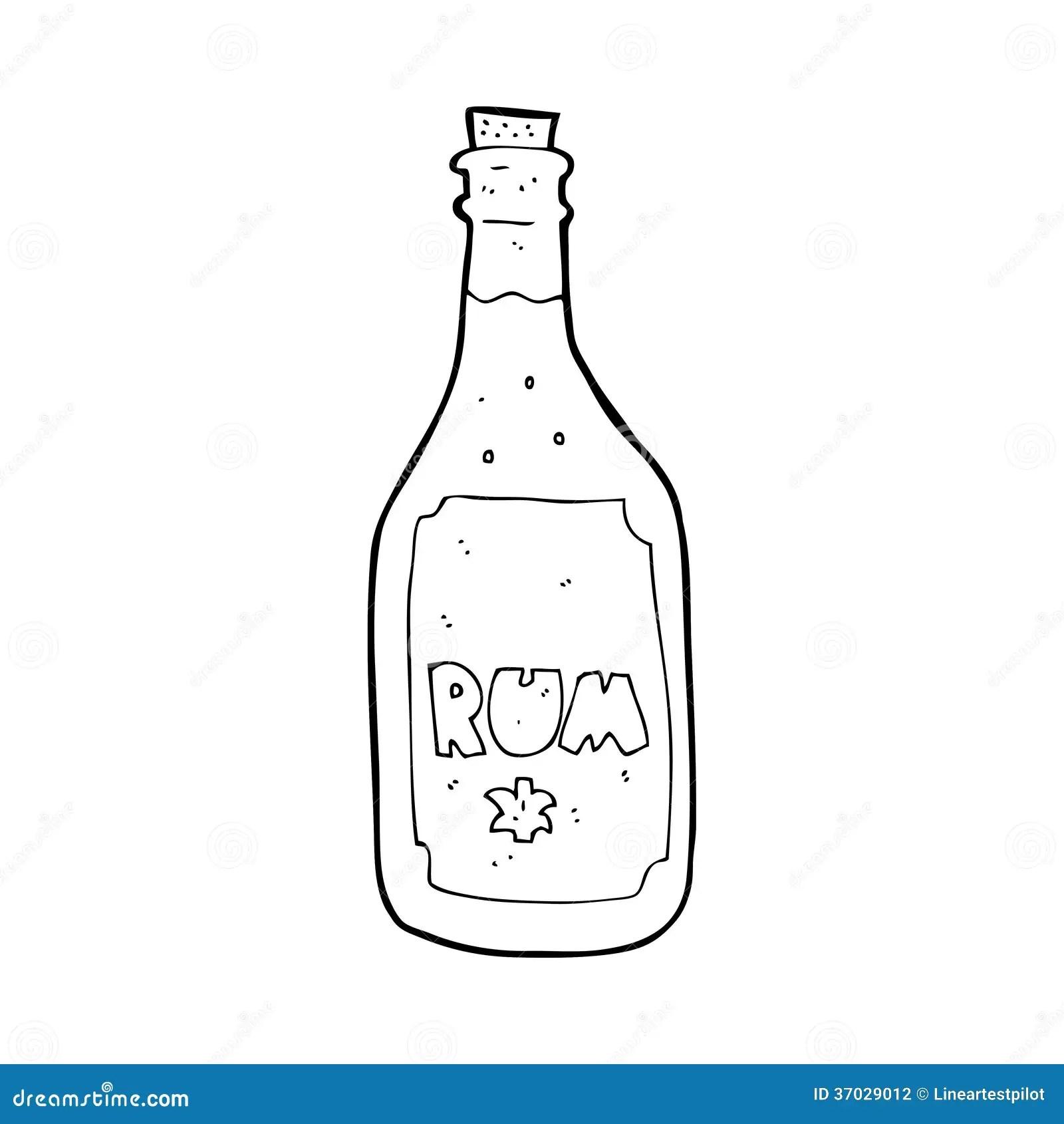 Cartoon Rum Bottle Stock Illustration Illustration Of
