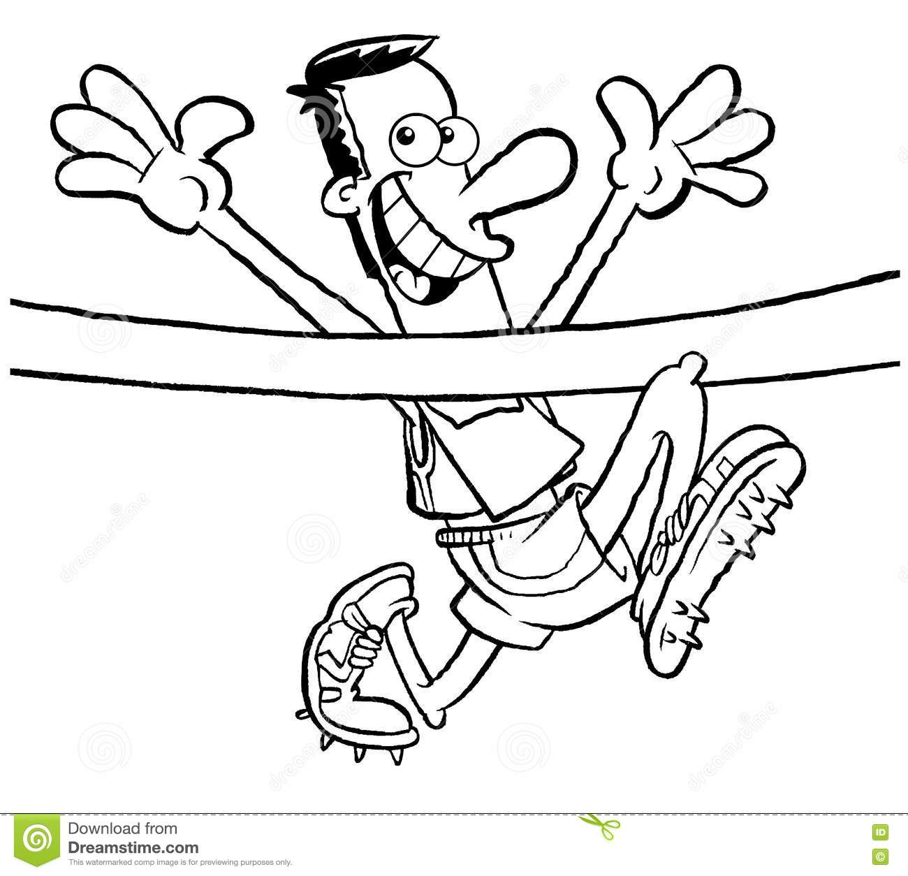 Cartoon Runner Stock Illustration Illustration Of