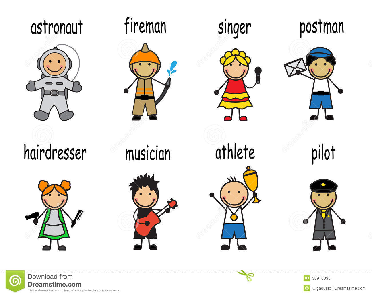 Cartoon Set People Of Different Professions Royalty Free