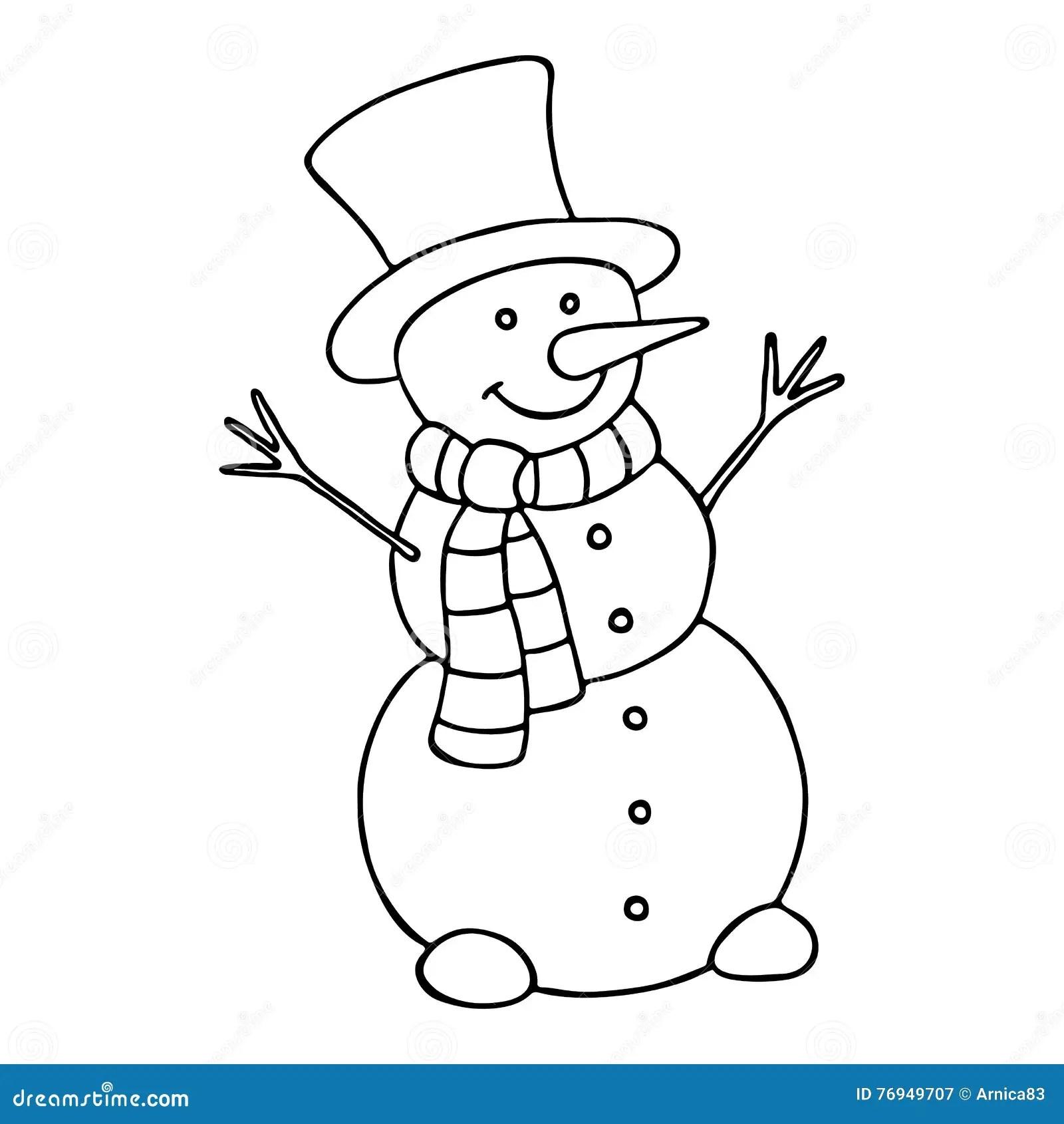 Cartoon Snowman Cartoon Vector