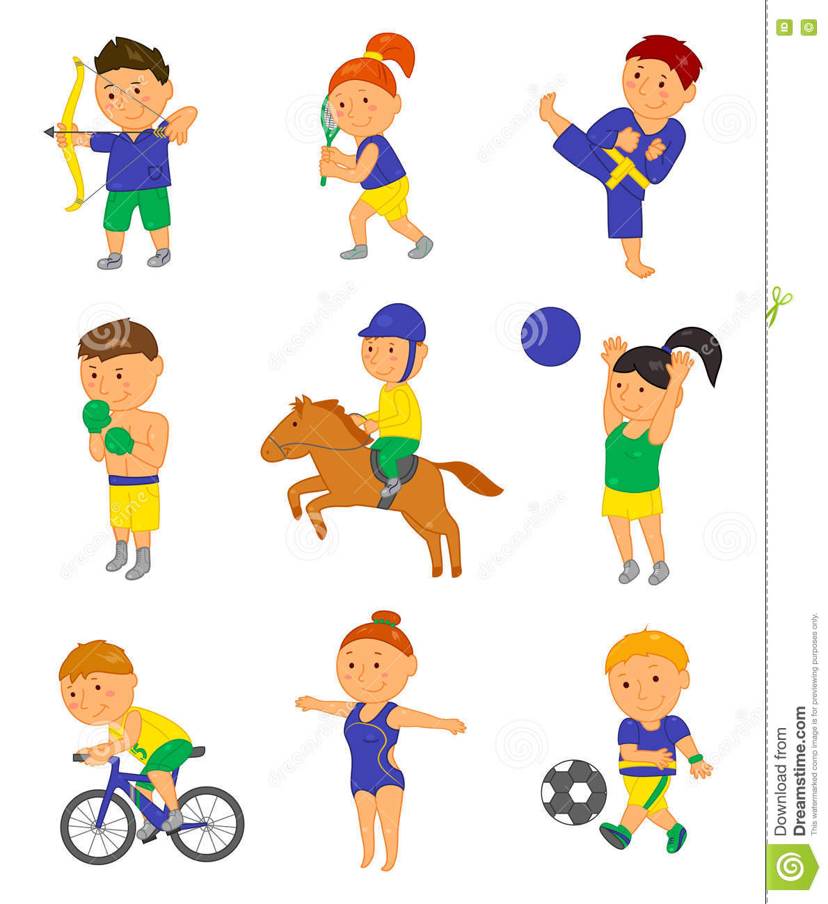 Sport Kids Vector Illustration Cartoon Vector