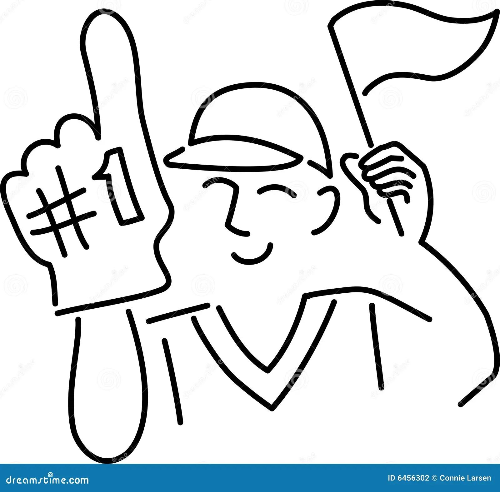 Cartoon Sports Fan Stock Illustration Image Of Action