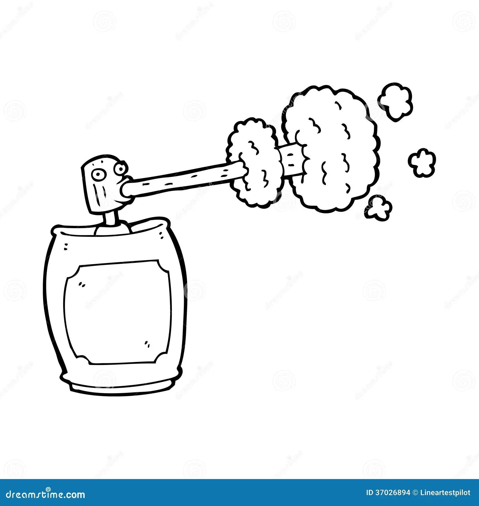 Cartoon Spray Can Stock Illustration Illustration Of