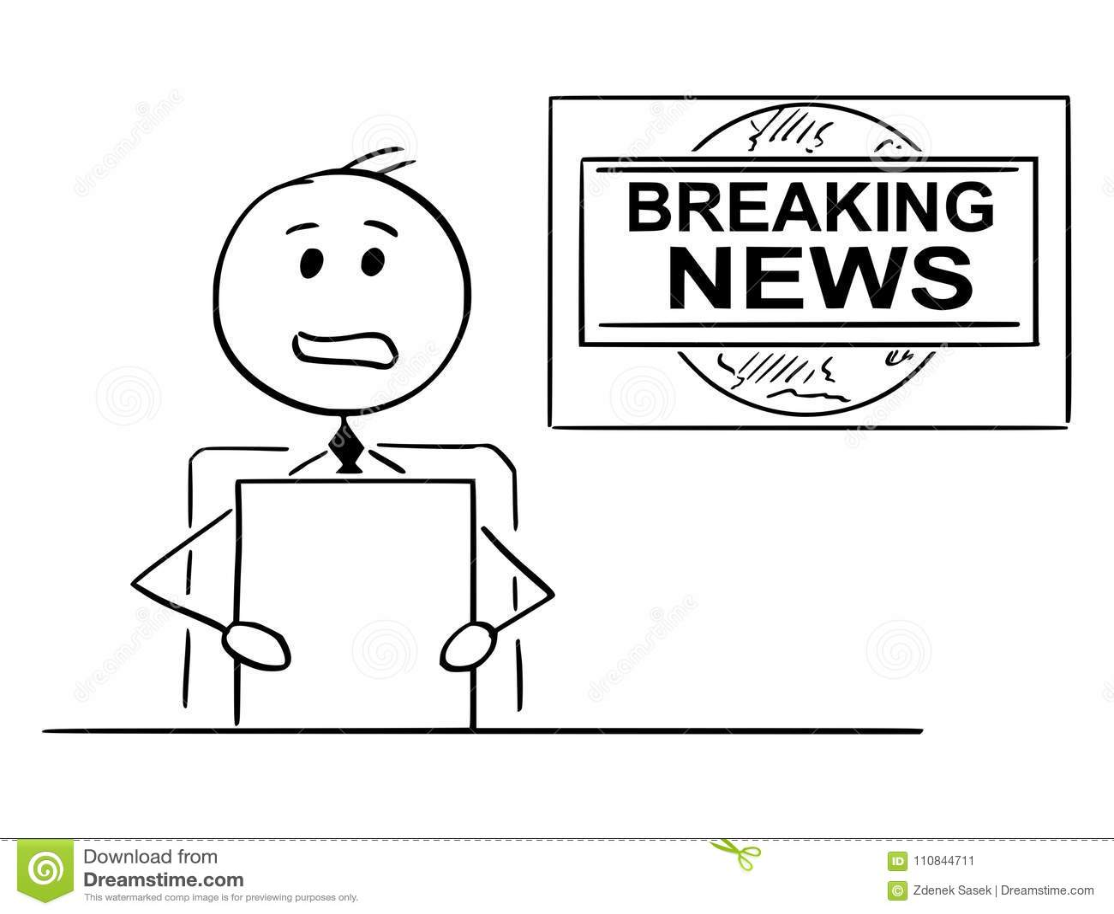 Tv Reporter Stock Illustrations 1 290 Tv Reporter Stock