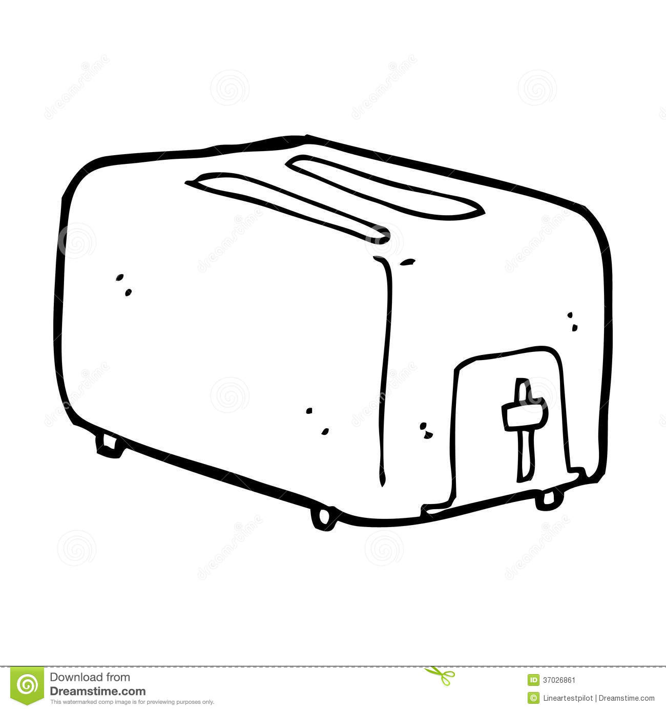 Cartoon Toaster Stock Image