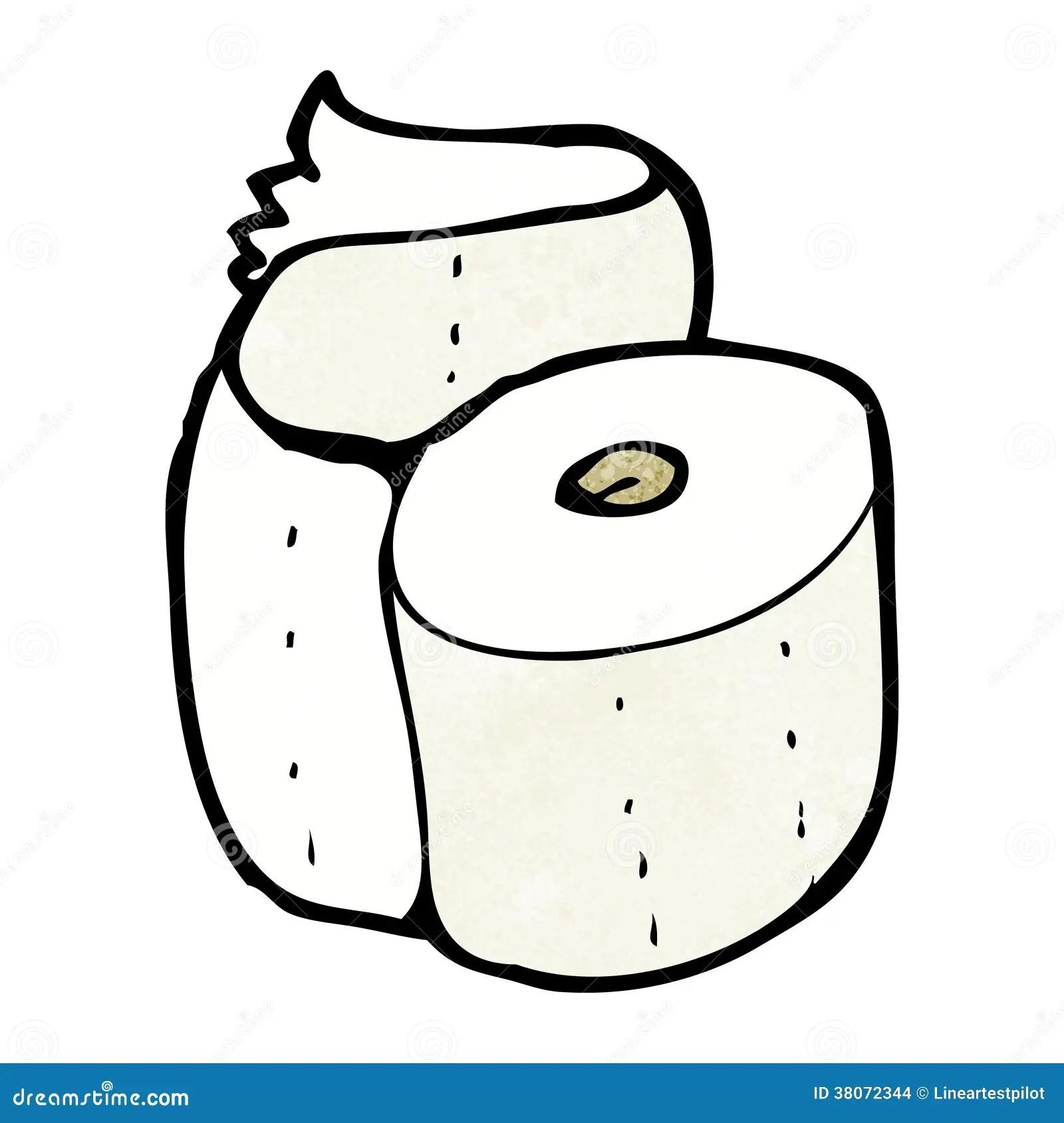 Cartoon Toilet Roll Stock Illustration Image Of Hand
