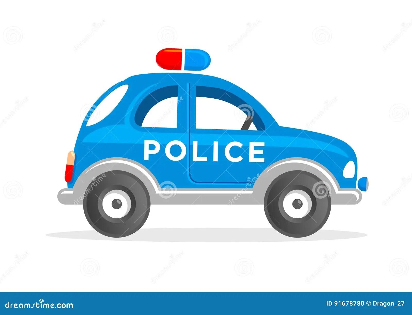 Cartoon Toy Police Car Vector Illustration Stock Vector Illustration Of Kids Police 91678780