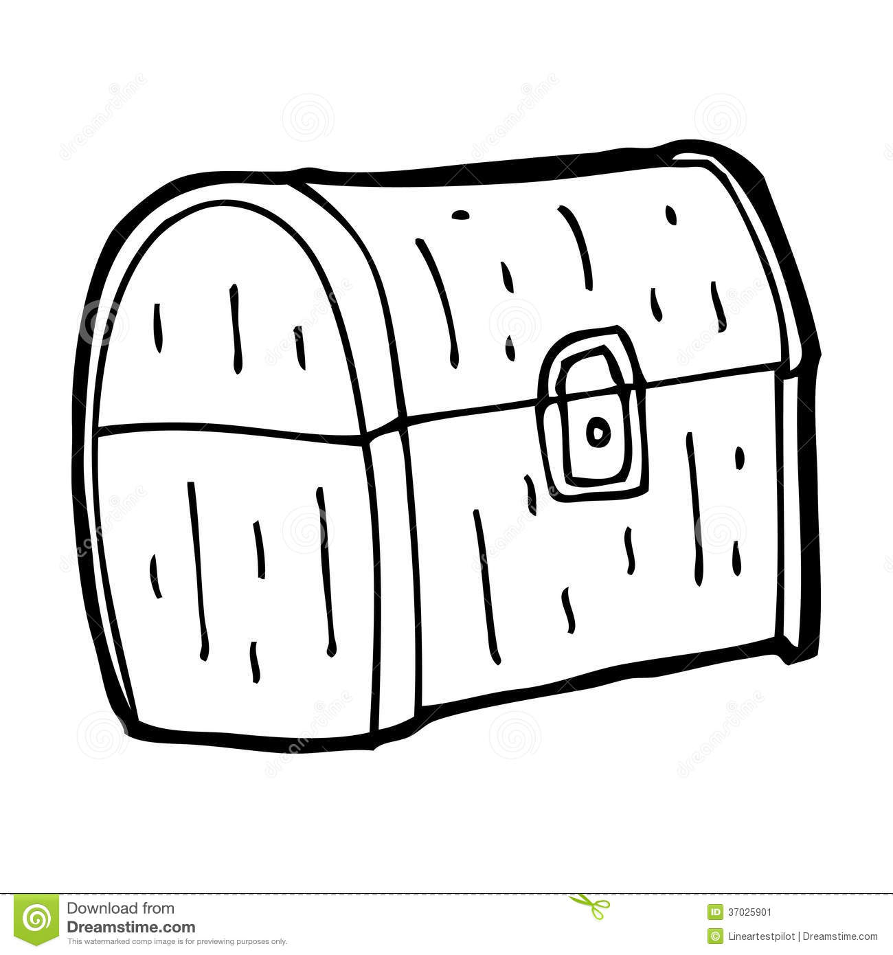 Cartoon Treasure Chest Stock Illustration Image Of Hand