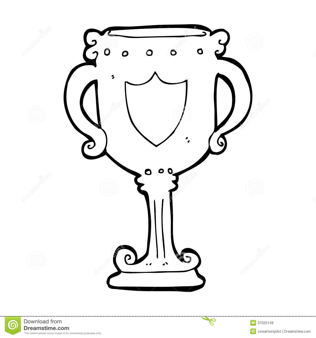 Cartoon Trophy Royalty Free Stock Images