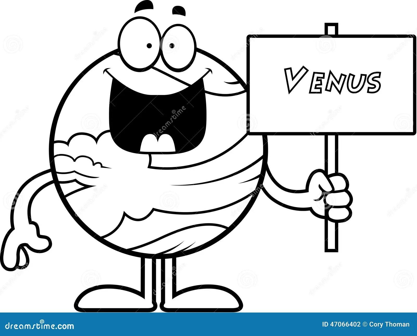 Cartoon Venus Sign Stock Vector Illustration Of Smiling