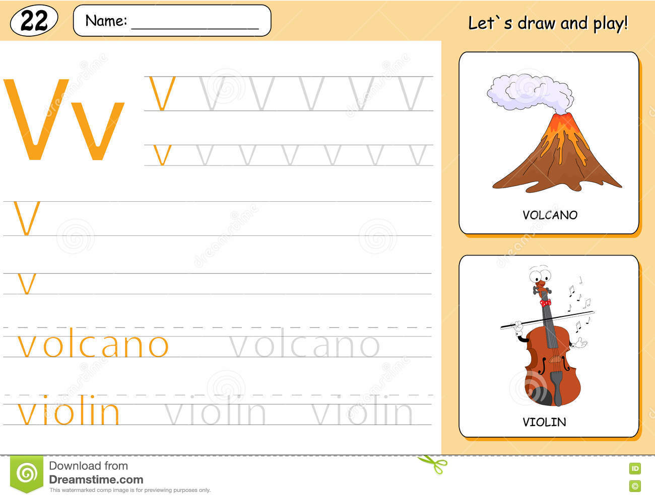 Volcano Volcano Worksheet