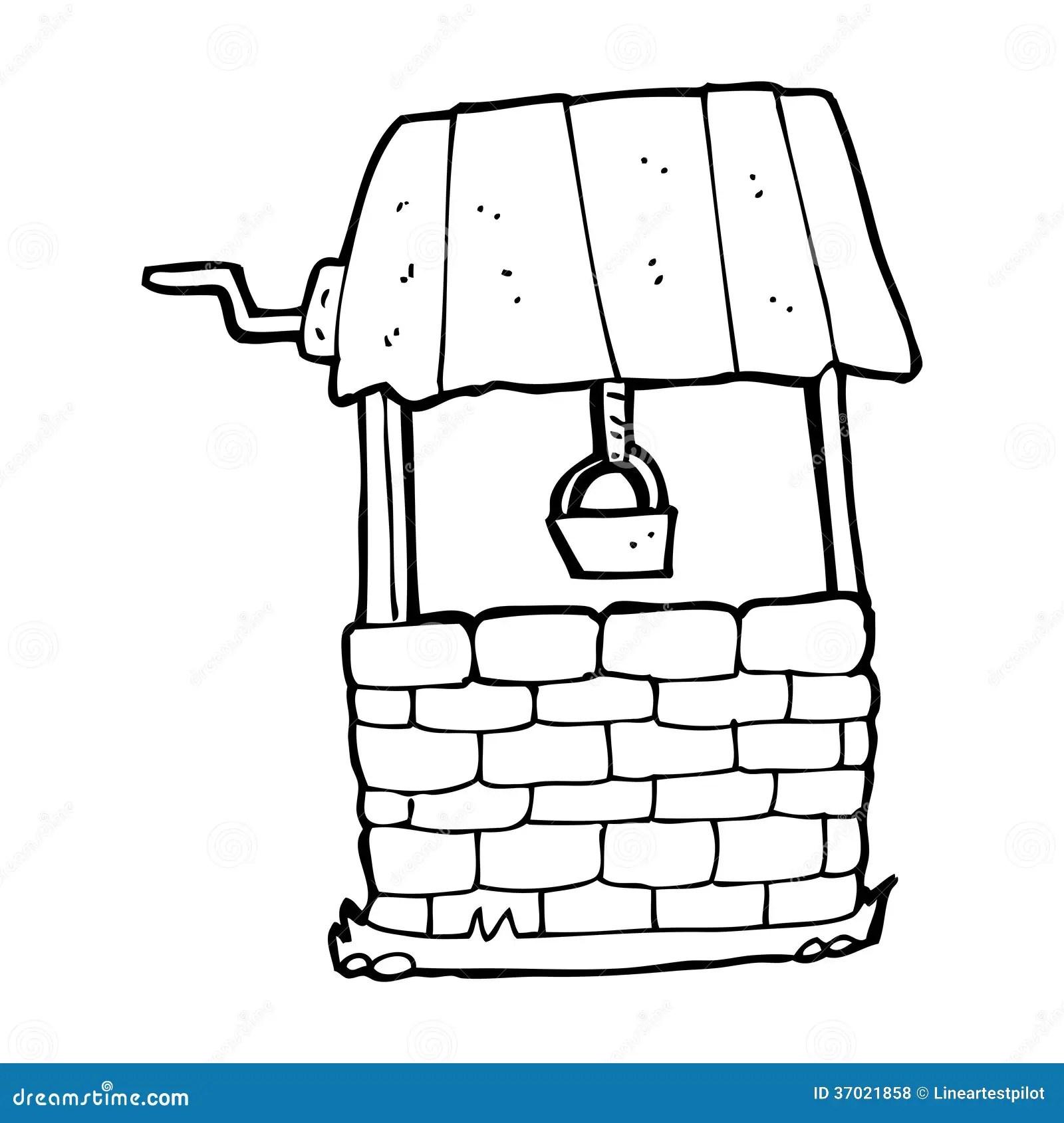 Cartoon Wishing Well Stock Illustration Image Of Simple