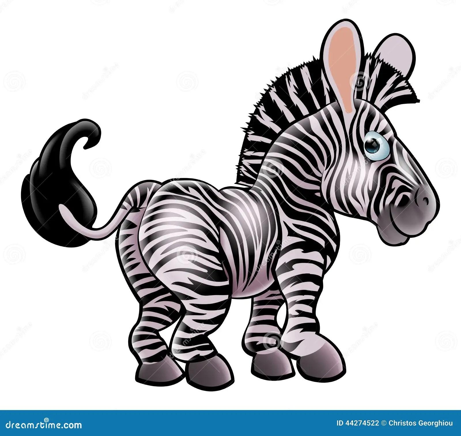 Cartoon Zebra Cartoon Vector