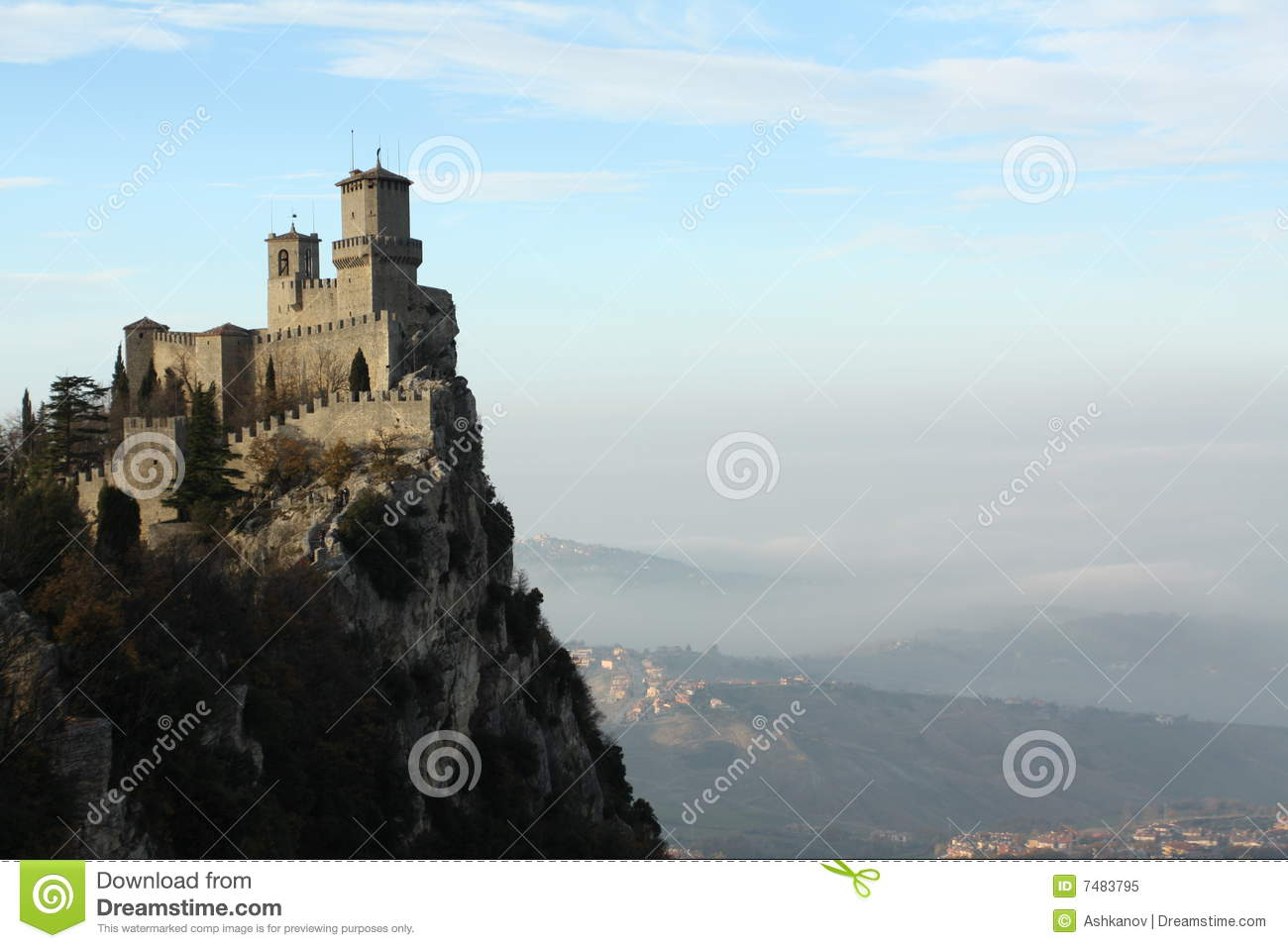 The Castle On A Mountain Stock Image Image Of Culture