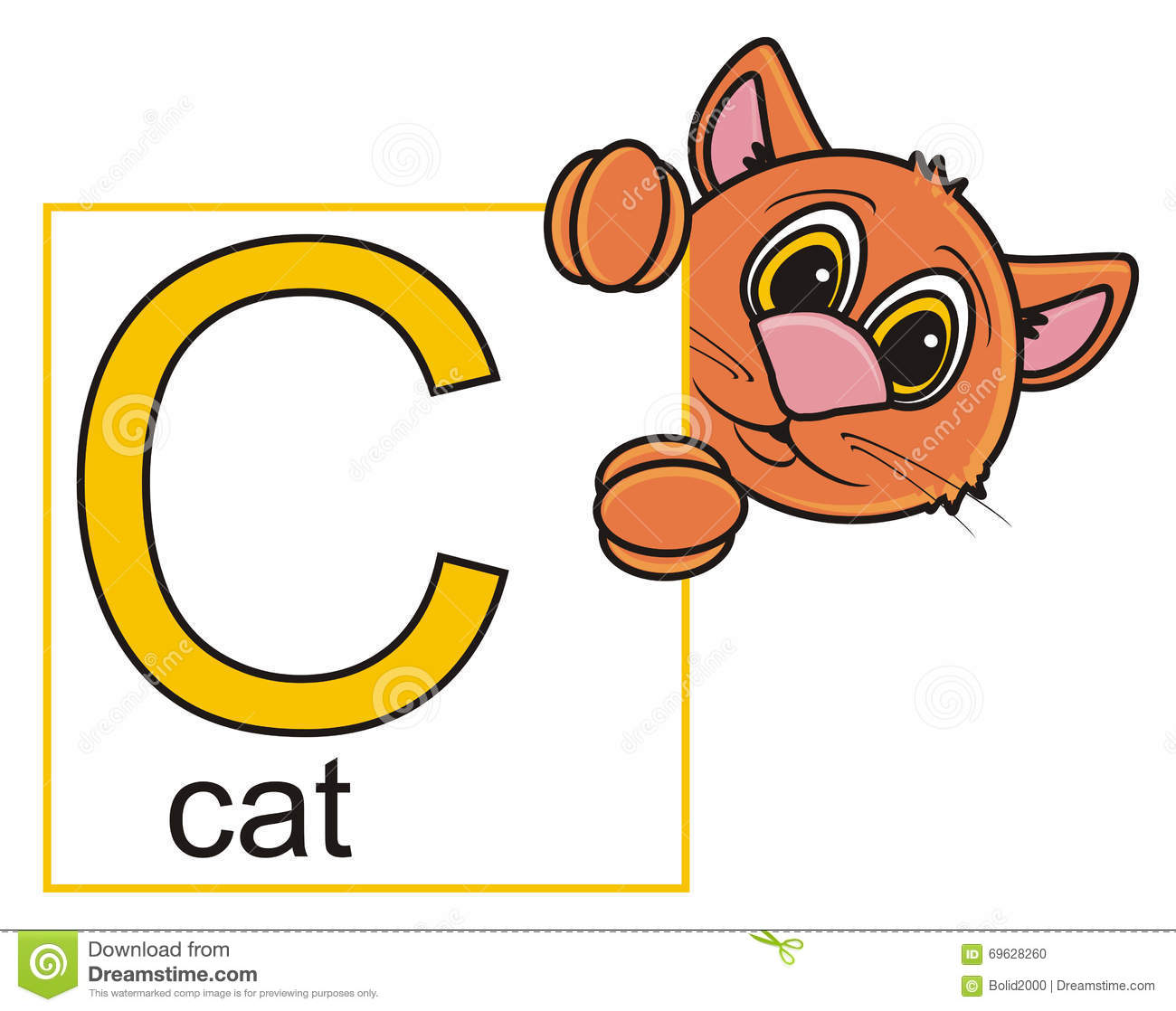 Cat Holding Sign Stock Image