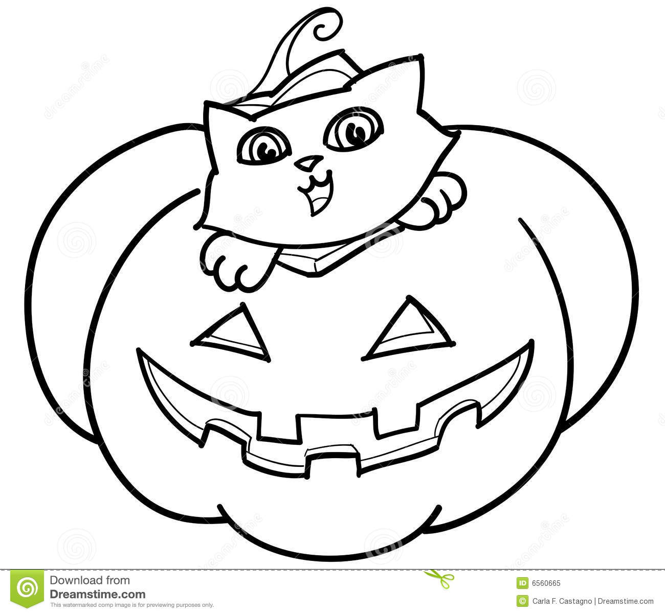 Cat In Jack O Lantern Vector Stock Vector