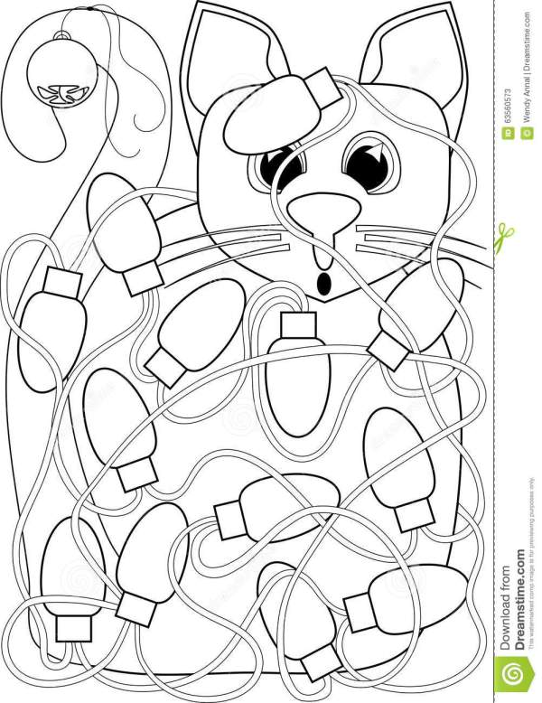 christmas lights coloring pages # 17