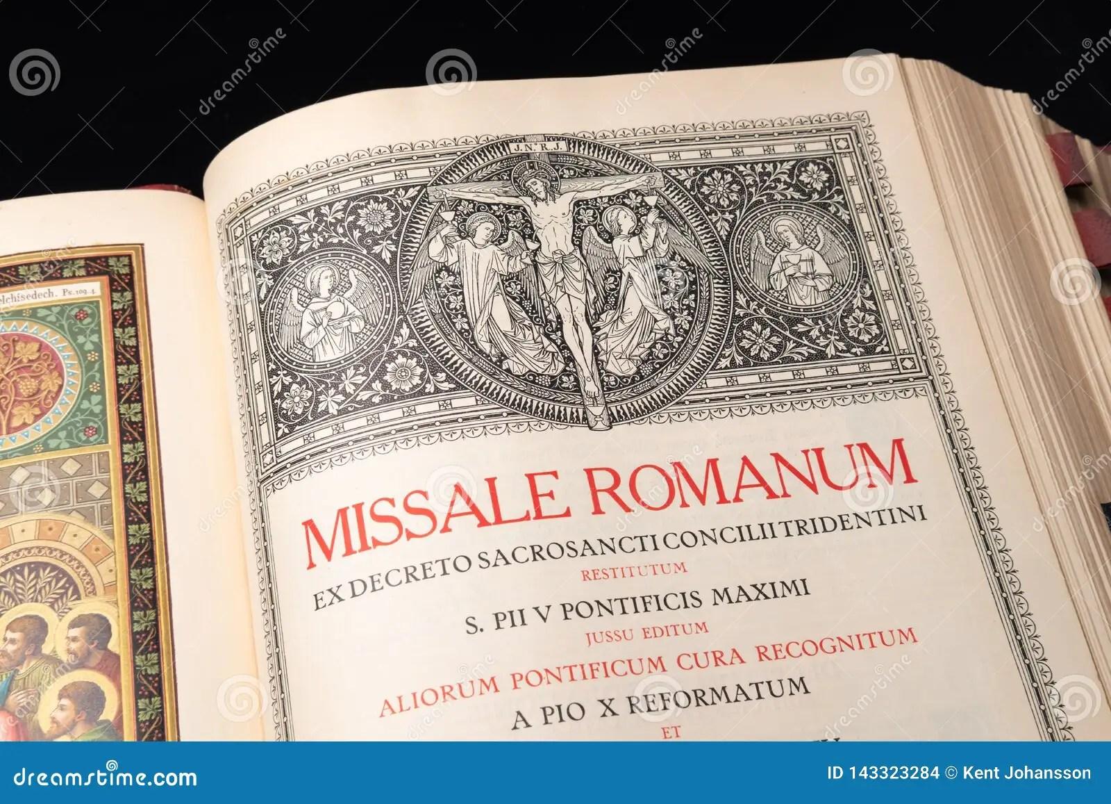 Catholic Order Of Mass In Latin Editorial Stock Image