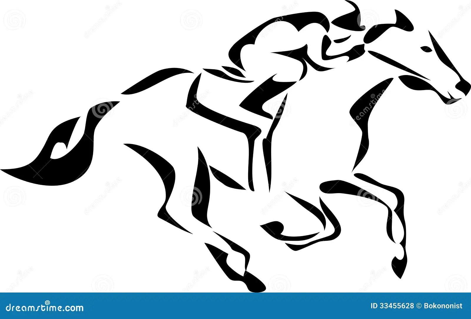 Cavallo Illustrazione Vettoriale Illustrazione Di Corsa