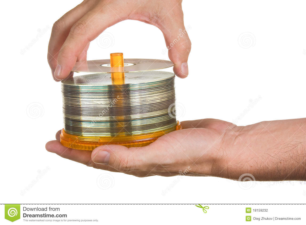 Cd Rom In Hands Stock Photo Image Of Disk Computer