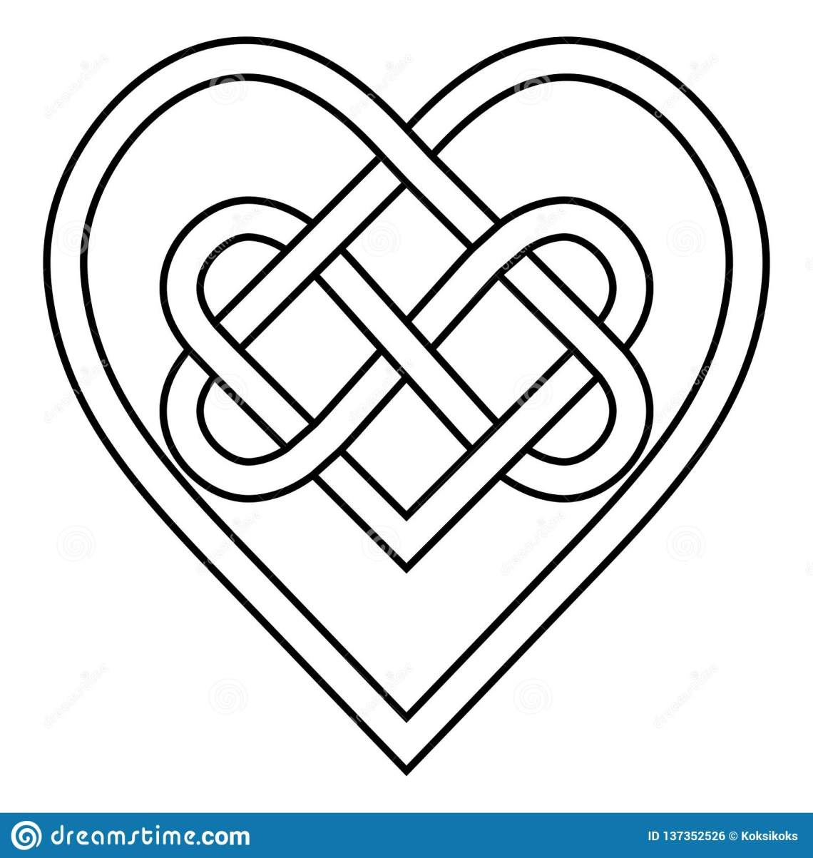 Download Celtic Knot Rune Bound Hearts Infinity Vector Symbol Sign ...
