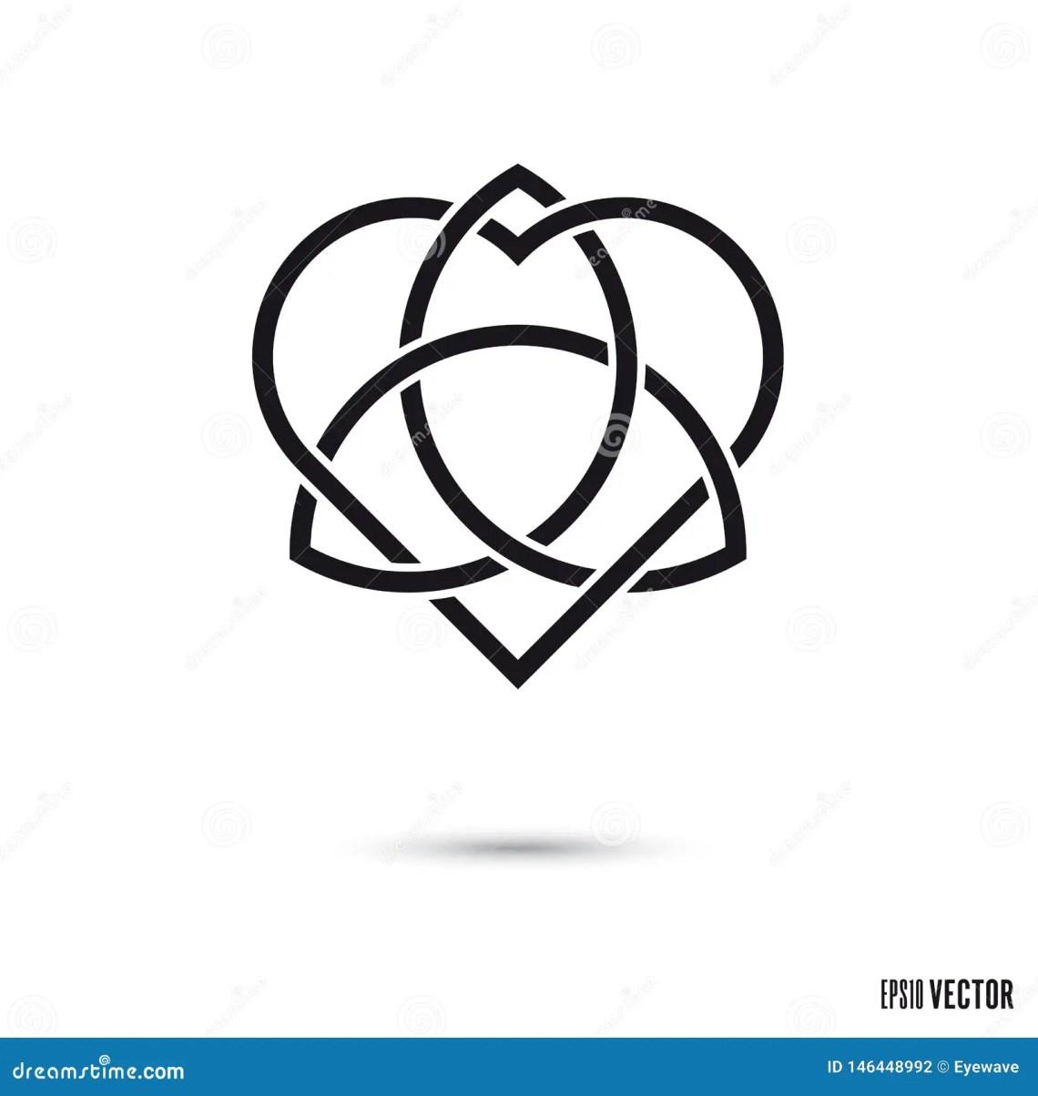 Download Celtic Love Knot Symbol Vector Illustration Stock Vector ...