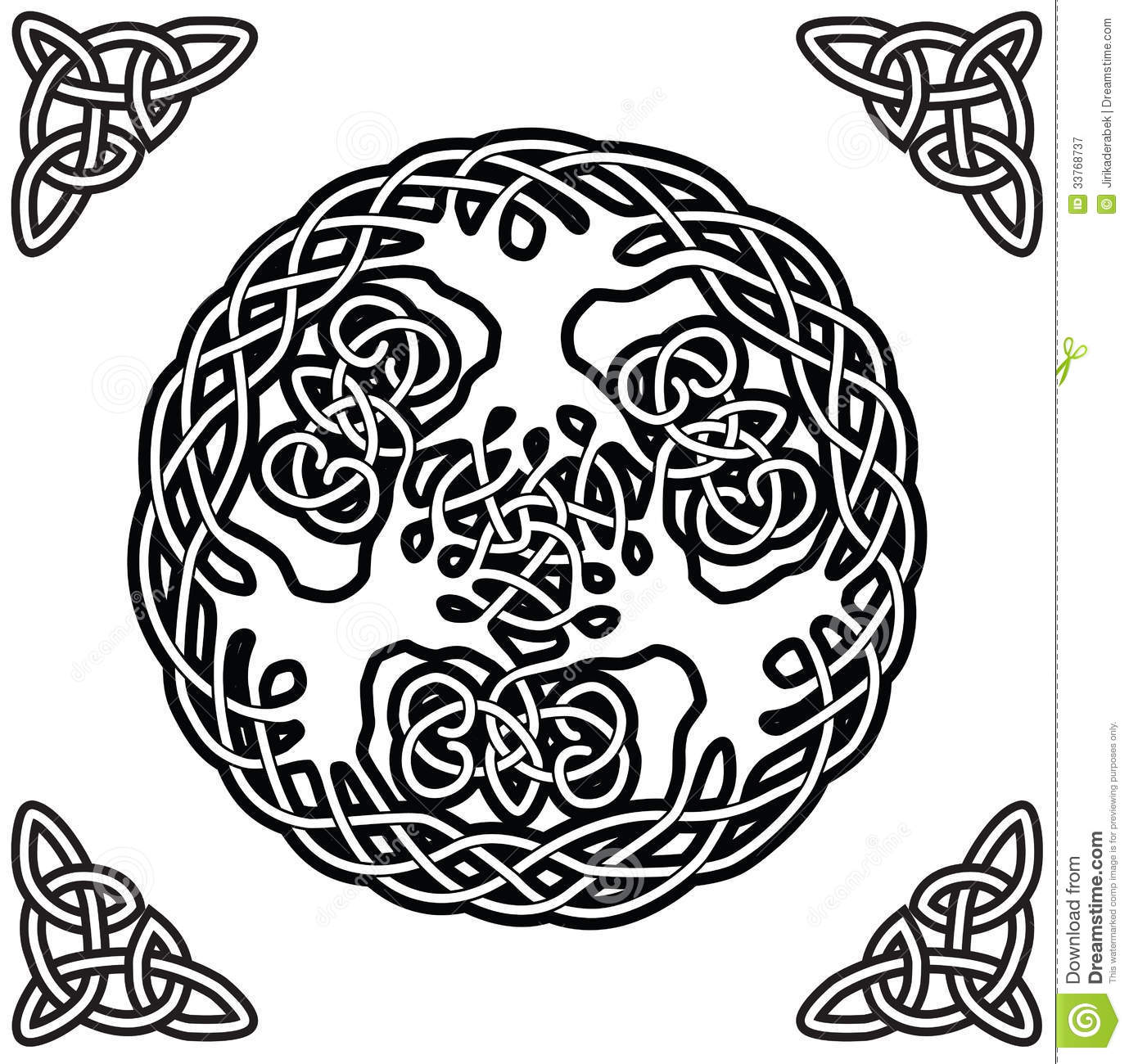 Celtic Ornament Yggdrasil Royalty Free Stock Photography