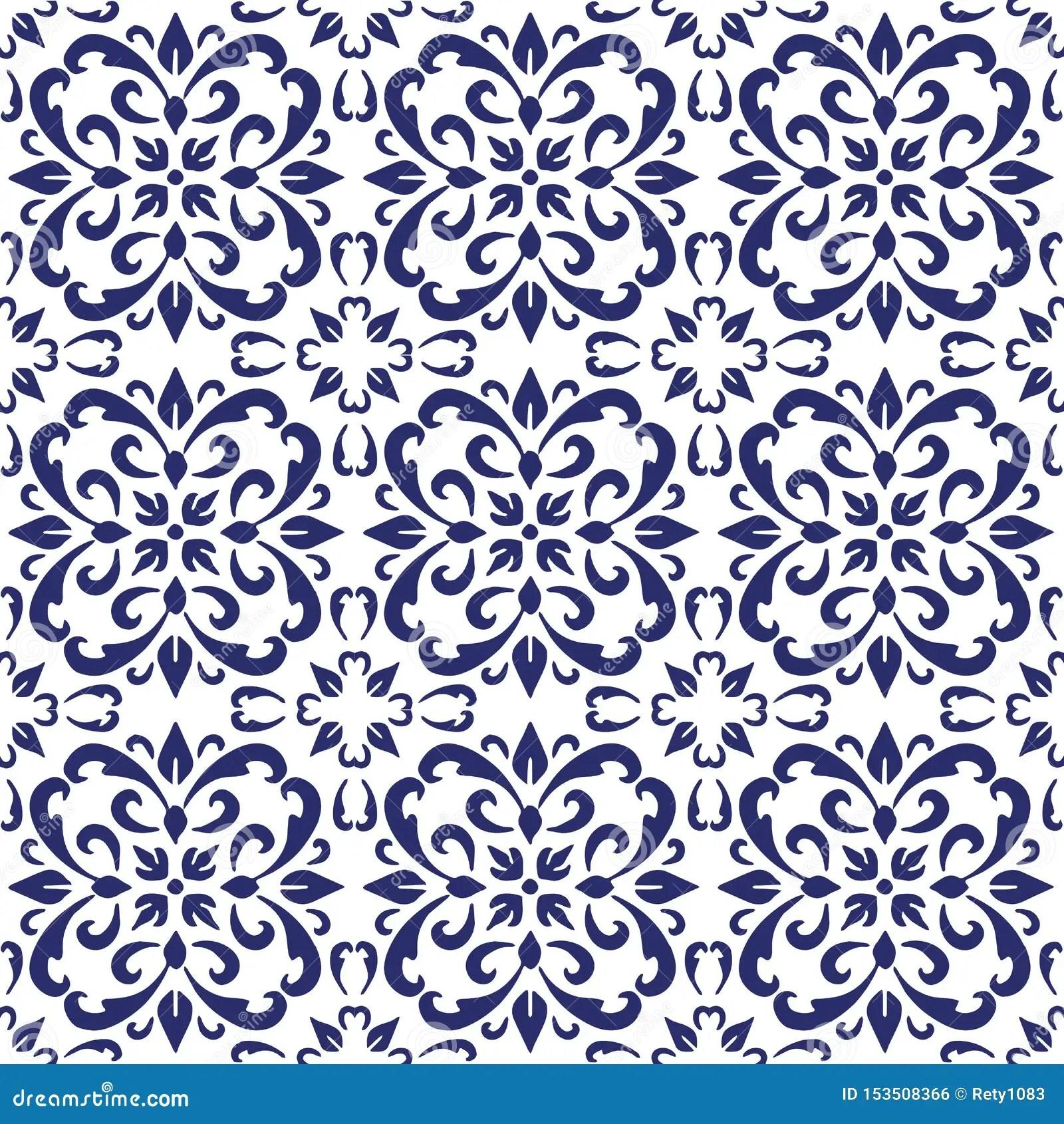 https www dreamstime com ceramic tile portuguese tiles blue white moroccan tiles blue white kitchen tiles bathroom tiles surface pattern vector image153508366