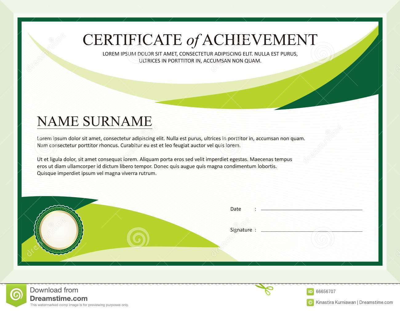 achievement award template education awards achievement award – Template Certificate of Achievement