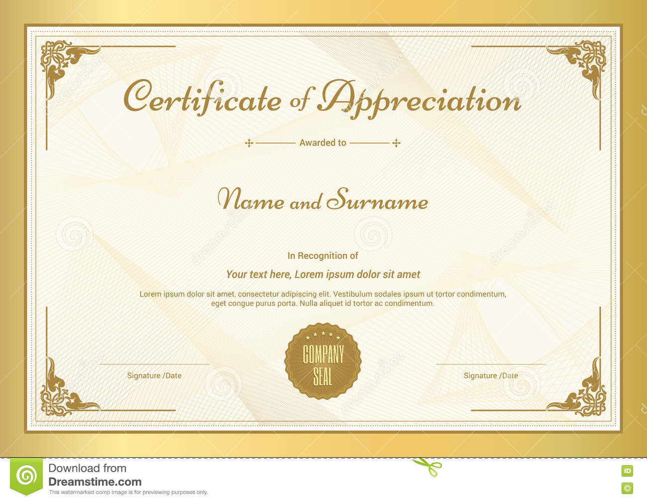 Donation Certificate Blank