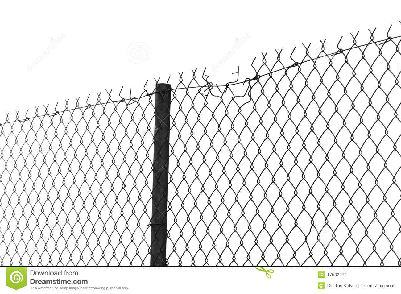 Chain Link Fence Stock Photography