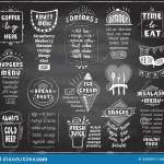 Chalkboard Menu For Cafe Or Restaurant Coffee Fruit Menu Burgers Cold Beer Breakfast And Dinner Menu Fresh Juice Snacks Stock Vector Illustration Of Drinks Fast 152923817