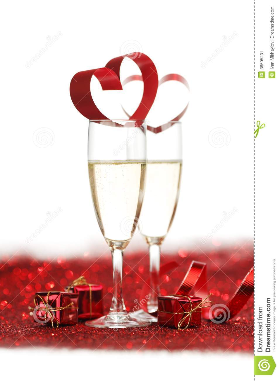 Champagne And Gifts Stock Image Image 36605231