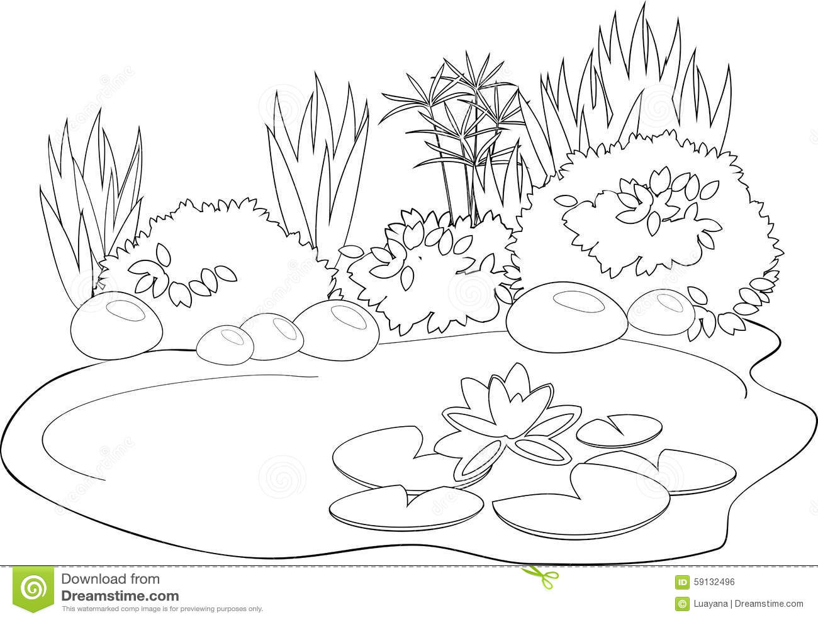 Charca Del Colorante Ilustracion Del Vector
