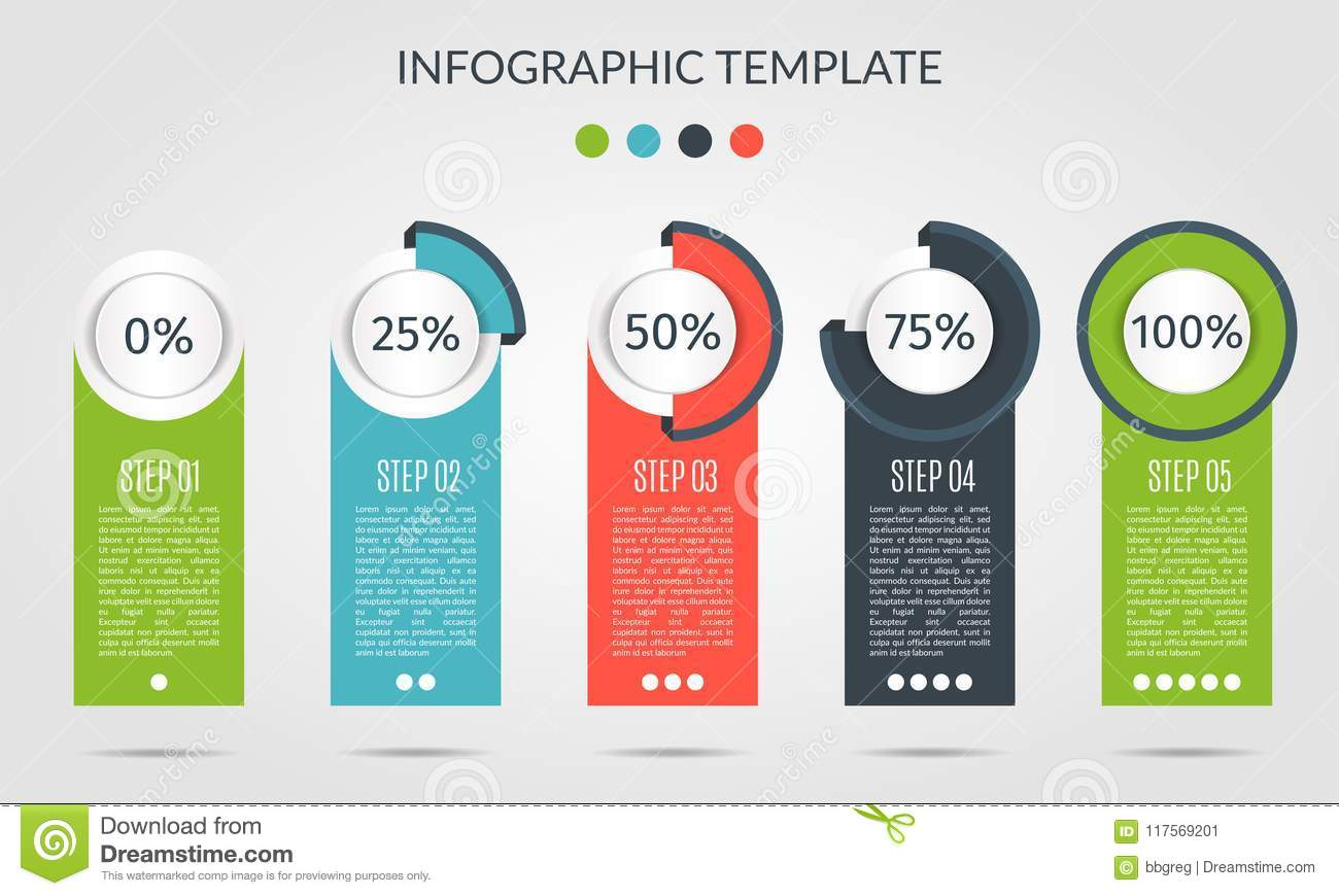 Chart Template In Modern Style For Infographic And