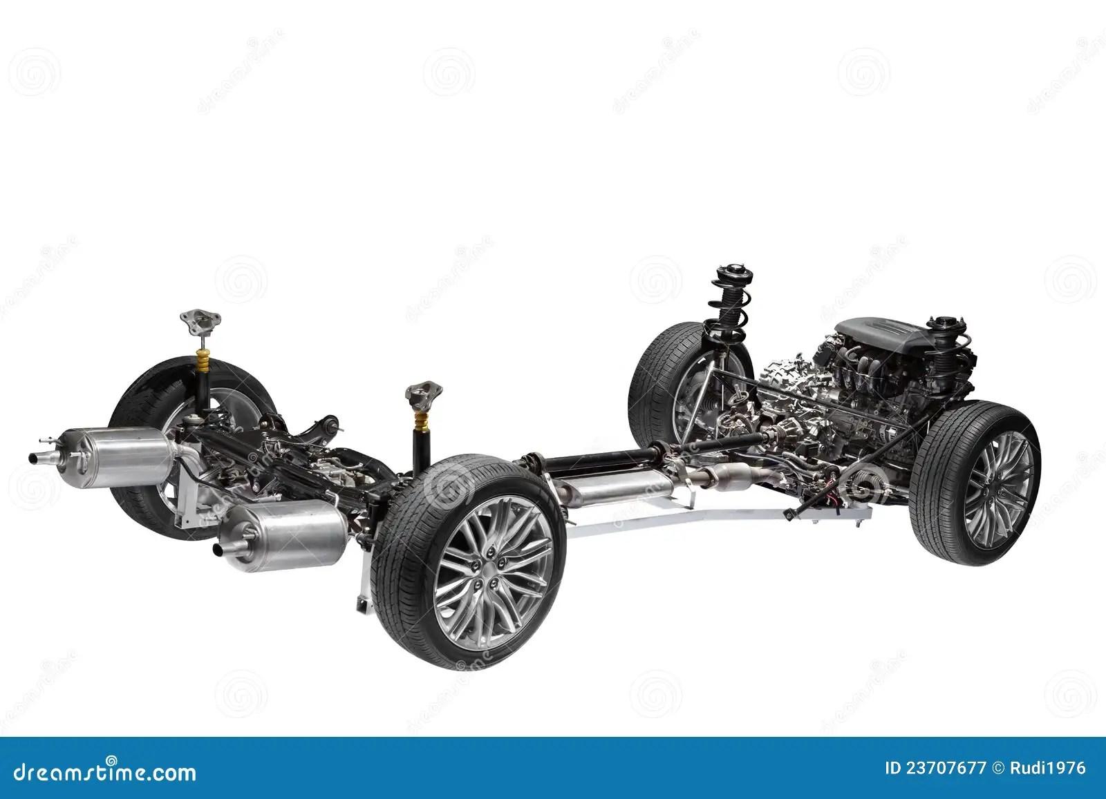 Chassi Do Carro Com Motor Imagem De Stock Imagem De