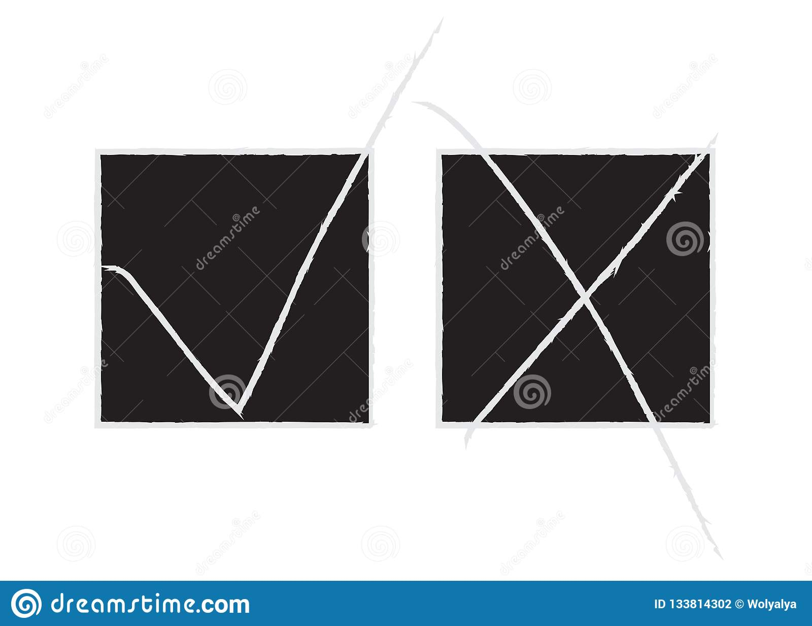 Iq Test Choose Correct Answer Vector Illustration